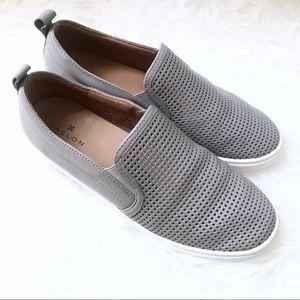 Gray Eden Perforated Slip-On Sneaker